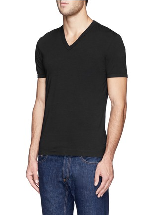 Front View - Click To Enlarge - Dolce & Gabbana - Stretch cotton-blend undershirt