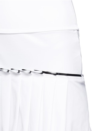 Detail View - Click To Enlarge - MONREAL - Lasercut pleat foldable waist skirt