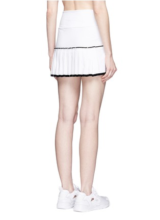 Back View - Click To Enlarge - MONREAL - Lasercut pleat foldable waist skirt
