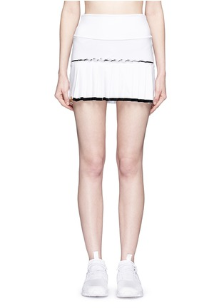 Main View - Click To Enlarge - MONREAL - Lasercut pleat foldable waist skirt