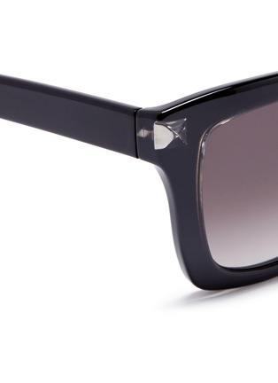 Detail View - Click To Enlarge - Valentino - 'Rockstud' acetate square sunglasses