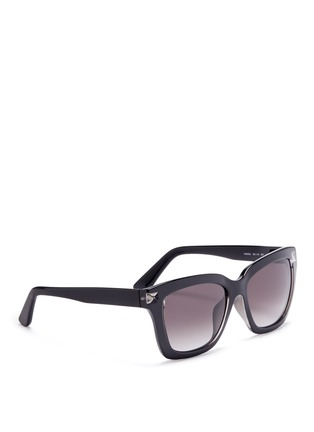 Figure View - Click To Enlarge - Valentino - 'Rockstud' acetate square sunglasses