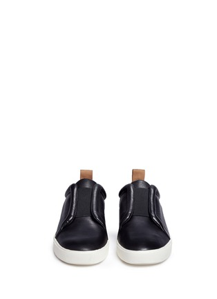 Front View - Click To Enlarge - Vince - 'Caden' leather slip-on sneakers