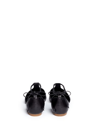 Back View - Click To Enlarge - Vince - 'Noella' leather lace-up d'Orsay flats
