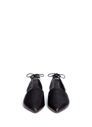 Front View - Click To Enlarge - Vince - 'Noella' leather lace-up d'Orsay flats