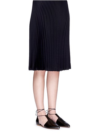 Figure View - Click To Enlarge - Vince - 'Noella' leather lace-up d'Orsay flats