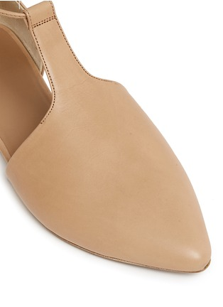 Detail View - Click To Enlarge - Vince - 'Noella' leather lace-up d'Orsay flats