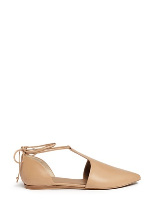 Main View - Click To Enlarge - Vince - 'Noella' leather lace-up d'Orsay flats