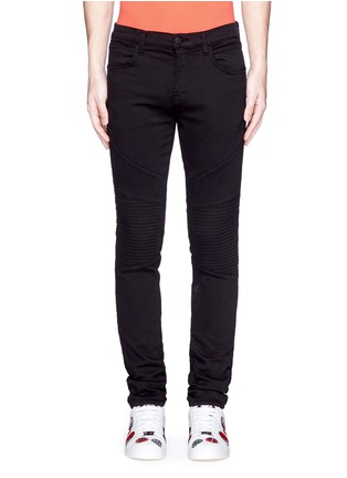 Main View - Click To Enlarge - J Brand - 'Bearden Moto' quilted knee pants