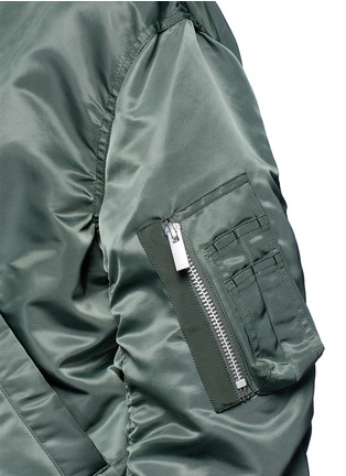 Detail View - Click To Enlarge - Sacai - Double layer flannel and nylon bomber jacket
