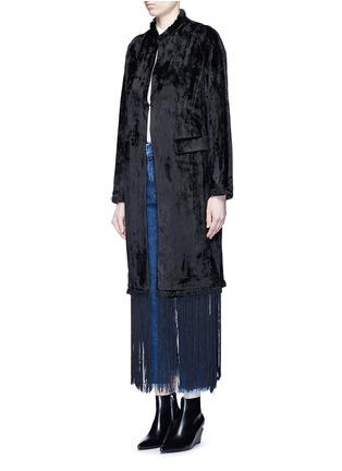 Front View - Click To Enlarge - TOGA ARCHIVES - Fringe hem moquette coat