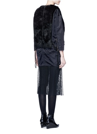 Back View - Click To Enlarge - TOGA ARCHIVES - Mesh hem faux fur nylon dress