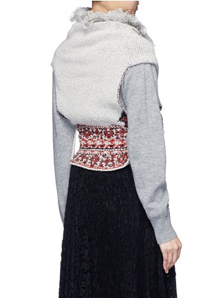 Back View - Click To Enlarge - TOGA ARCHIVES - Rug jacquard wool blend knit belted neck warmer