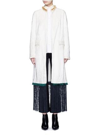 Main View - Click To Enlarge - TOGA ARCHIVES - Fringe hem moquette coat