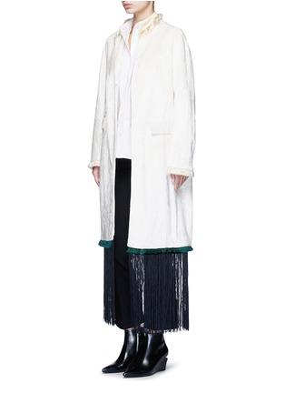Figure View - Click To Enlarge - TOGA ARCHIVES - Fringe hem moquette coat