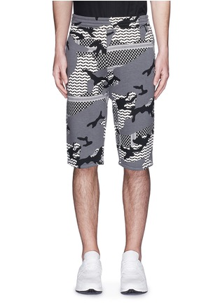Main View - Click To Enlarge - Neil Barrett - Keffiyeh check camouflage print bonded shorts