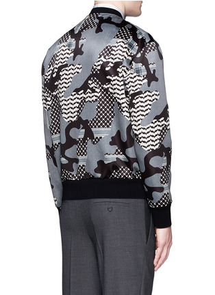Back View - Click To Enlarge - Neil Barrett - Keffiyeh check camouflage print blouson jacket