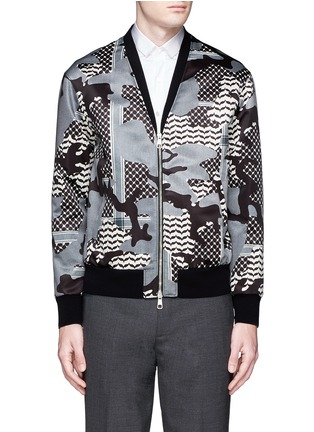 Main View - Click To Enlarge - Neil Barrett - Keffiyeh check camouflage print blouson jacket