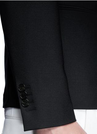 Detail View - Click To Enlarge - Neil Barrett - Peak lapel stretch gabardine skinny fit blazer