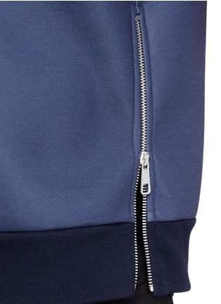 Detail View - Click To Enlarge - NEIL BARRETT - Keffiyeh wave camouflage bonded jersey sweatshirt
