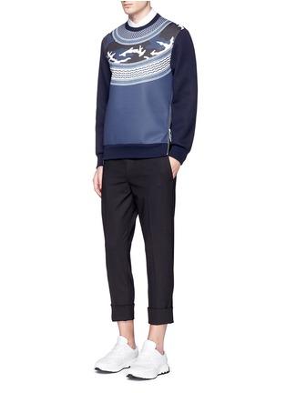 Figure View - Click To Enlarge - NEIL BARRETT - Keffiyeh wave camouflage bonded jersey sweatshirt