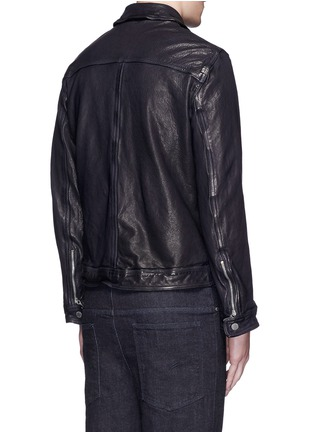 Back View - Click To Enlarge - Neil Barrett - Washed leather zip jacket