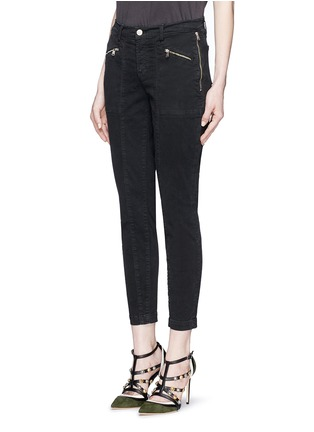 Front View - Click To Enlarge - J Brand - 'Genesis' zip front luxe twill utility pants