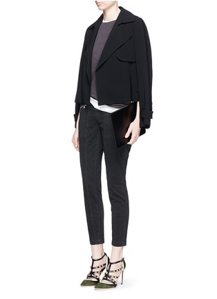 Figure View - Click To Enlarge - J Brand - 'Genesis' zip front luxe twill utility pants