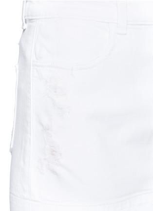 Detail View - Click To Enlarge - J BRAND - 'Leila' distressed denim pencil skirt