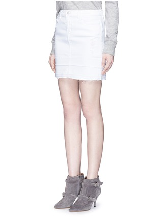 Front View - Click To Enlarge - J BRAND - 'Leila' distressed denim pencil skirt