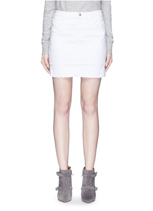 Main View - Click To Enlarge - J Brand - 'Leila' distressed denim pencil skirt
