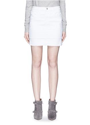 Main View - Click To Enlarge - J BRAND - 'Leila' distressed denim pencil skirt
