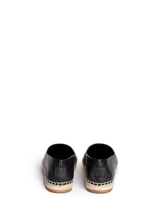Back View - Click To Enlarge - Opening Ceremony - 'Keata' leather espadrille slip-ons
