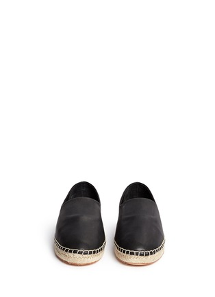 Front View - Click To Enlarge - Opening Ceremony - 'Keata' leather espadrille slip-ons
