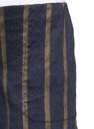 Detail View - Click To Enlarge - UMA WANG  - Textured stripe stretch culottes