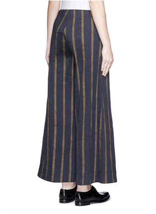 Back View - Click To Enlarge - UMA WANG  - Textured stripe stretch culottes