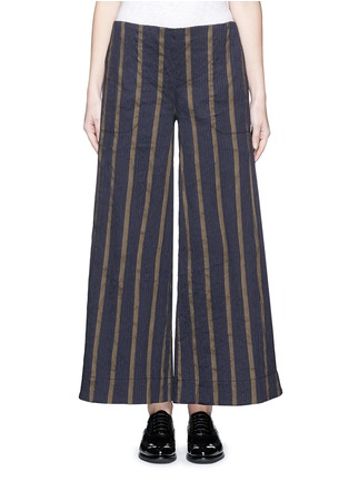 Main View - Click To Enlarge - UMA WANG  - Textured stripe stretch culottes