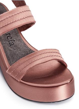 Detail View - Click To Enlarge - Pedro García - 'Decima' satin platform sandals