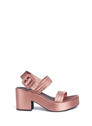 Main View - Click To Enlarge - Pedro García - 'Decima' satin platform sandals