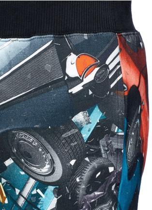 Detail View - Click To Enlarge - Christopher Kane - 'Car Crash' print cotton sweatpants
