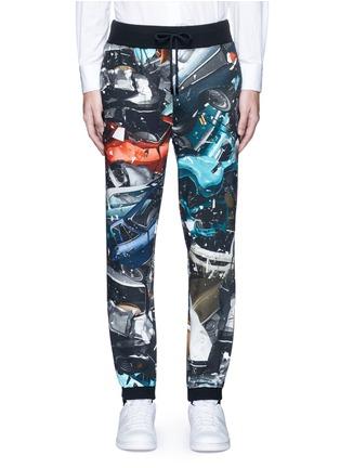 Main View - Click To Enlarge - Christopher Kane - 'Car Crash' print cotton sweatpants