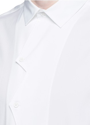 Detail View - Click To Enlarge - Christopher Kane - Zigzag front placket cotton shirt