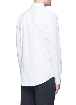 Back View - Click To Enlarge - Christopher Kane - Zigzag front placket cotton shirt