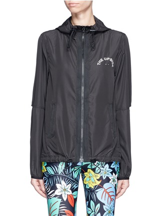 Main View - Click To Enlarge - The Upside - 'Spliced Ash' slit panel hooded jacket