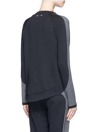 Back View - Click To Enlarge - The Upside - 'Kelela' heathered panel performance sweatshirt