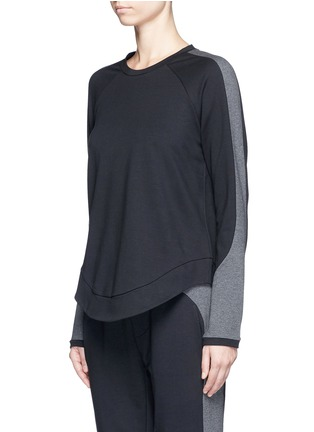 Front View - Click To Enlarge - The Upside - 'Kelela' heathered panel performance sweatshirt