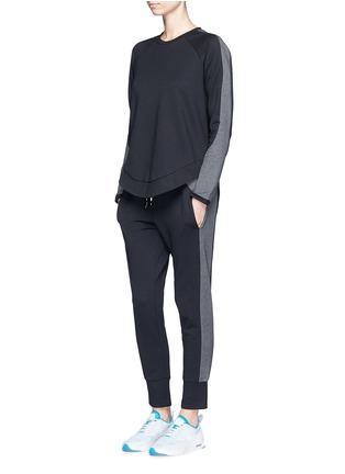 Figure View - Click To Enlarge - The Upside - 'Kelela' heathered panel performance sweatshirt