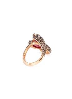 Stephen Webster 'Snake' diamond ruby 18k rose gold ring