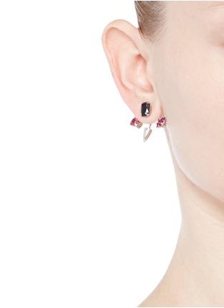 Figure View - Click To Enlarge - Joomi Lim - 'Love Thorn' crystal spike stud earrings
