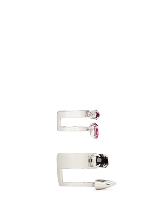 Figure View - Click To Enlarge - Joomi Lim - 'Organized Chaos' spike crystal two ring set